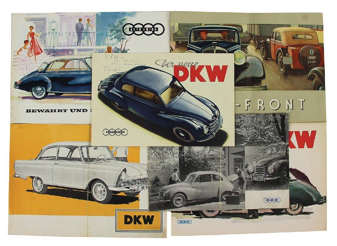AUTO UNION/DKW mixed lot with 6 pieces, among it
