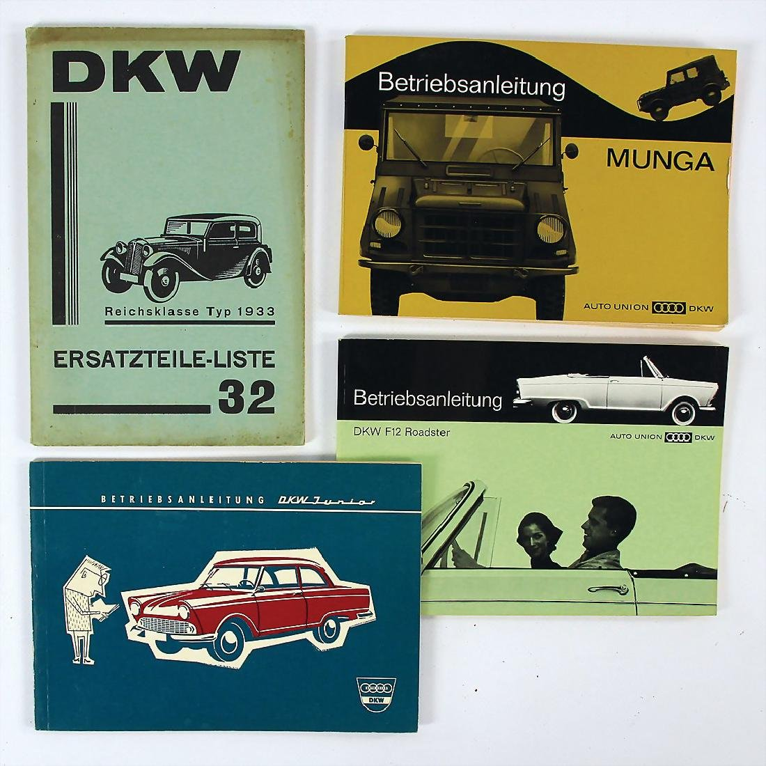 DKW/AUTO UNION mixed lot with 4 pieces, 3x operating