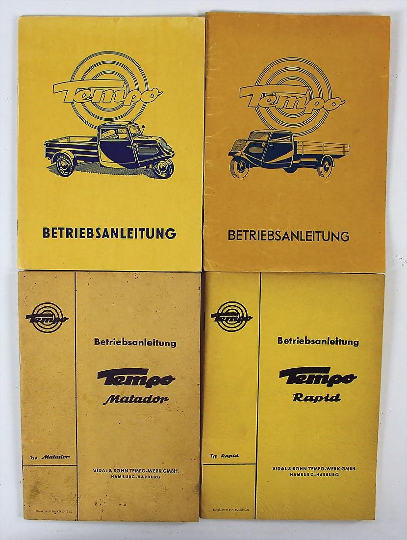 TEMPO mixed lot with 4 pieces, operating instructions