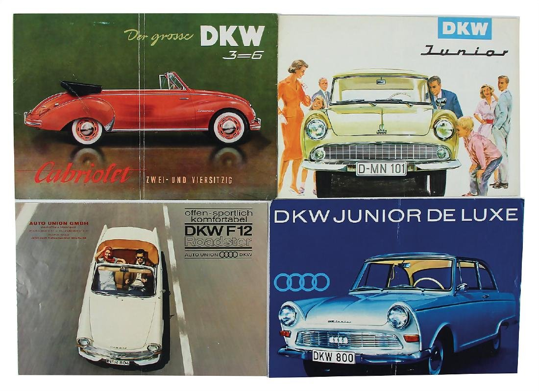 DKW/AUTO UNION mixed lot with 4 pieces, among it