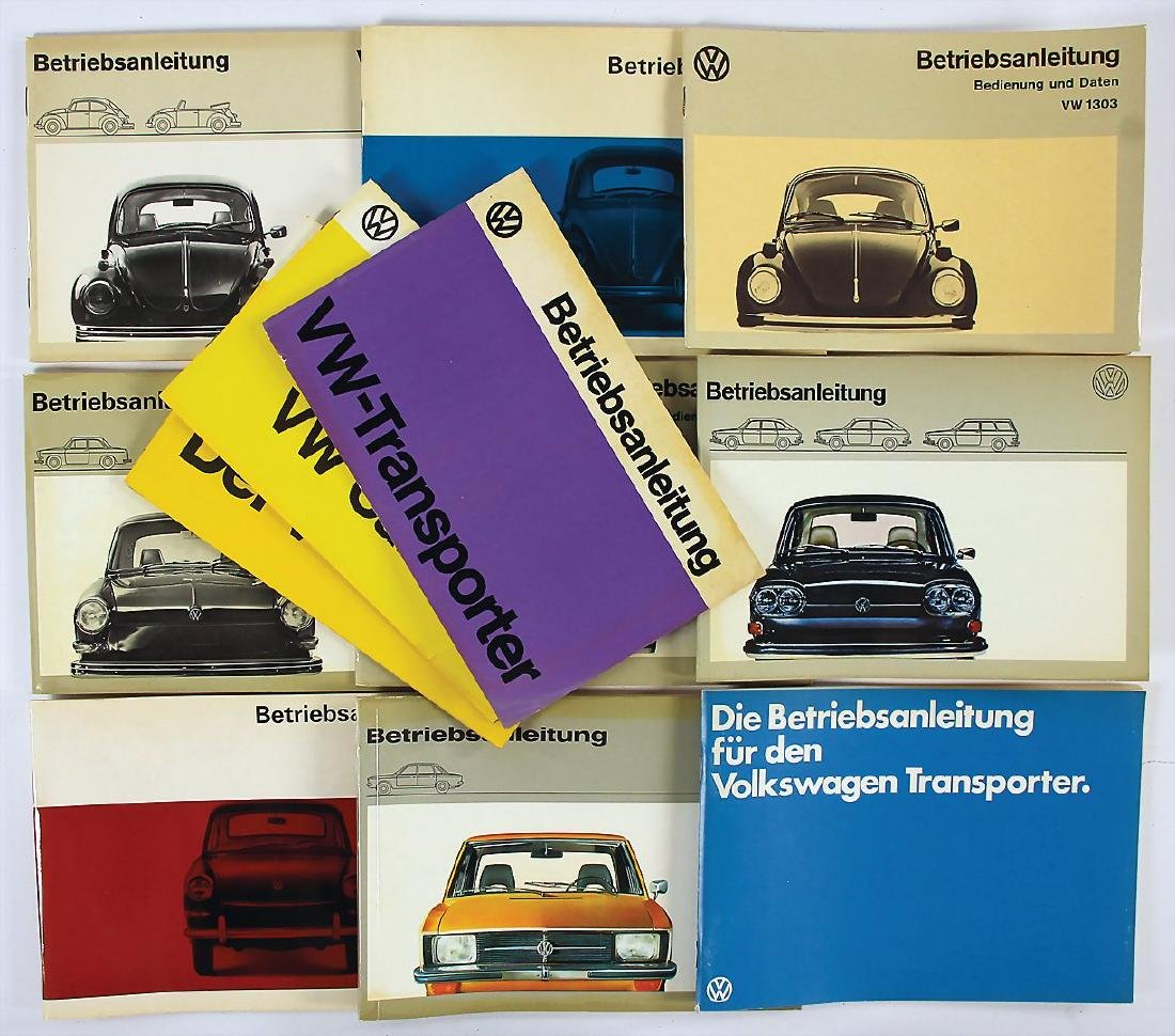 VOLKSWAGEN mixed lot of 12x operating instructions for