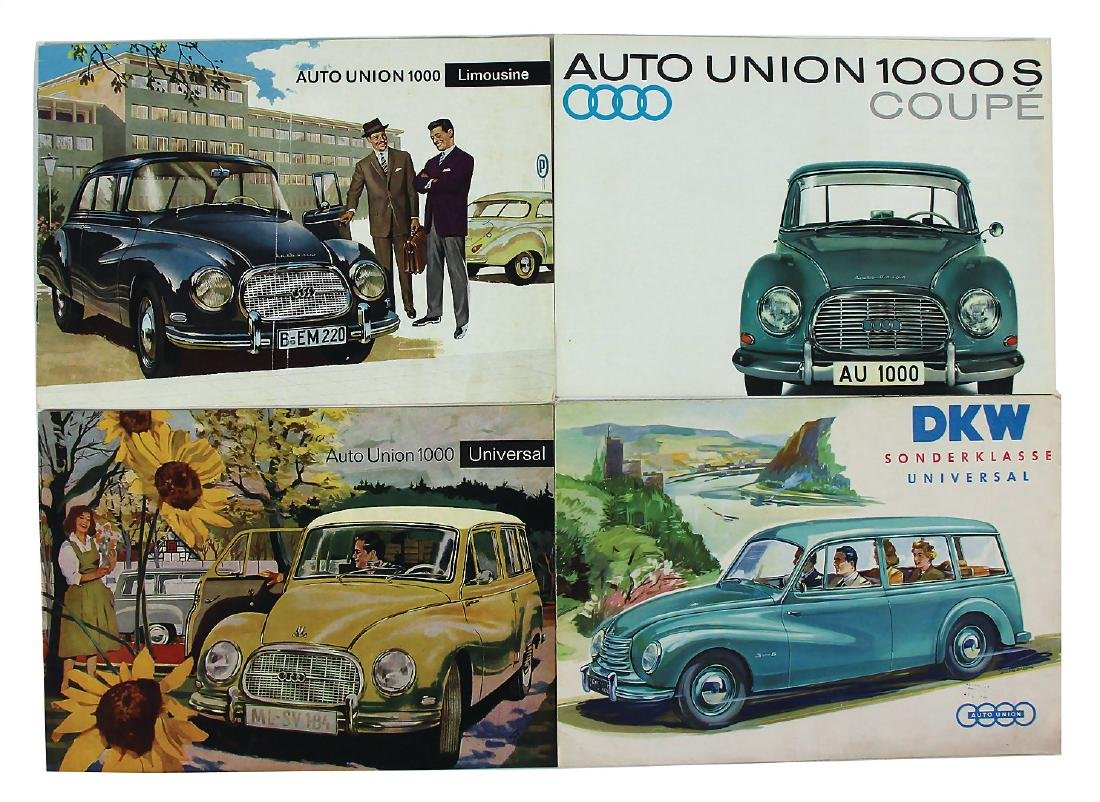 AUTO UNION/DKW mixed lot with 4 pieces, sales brochure