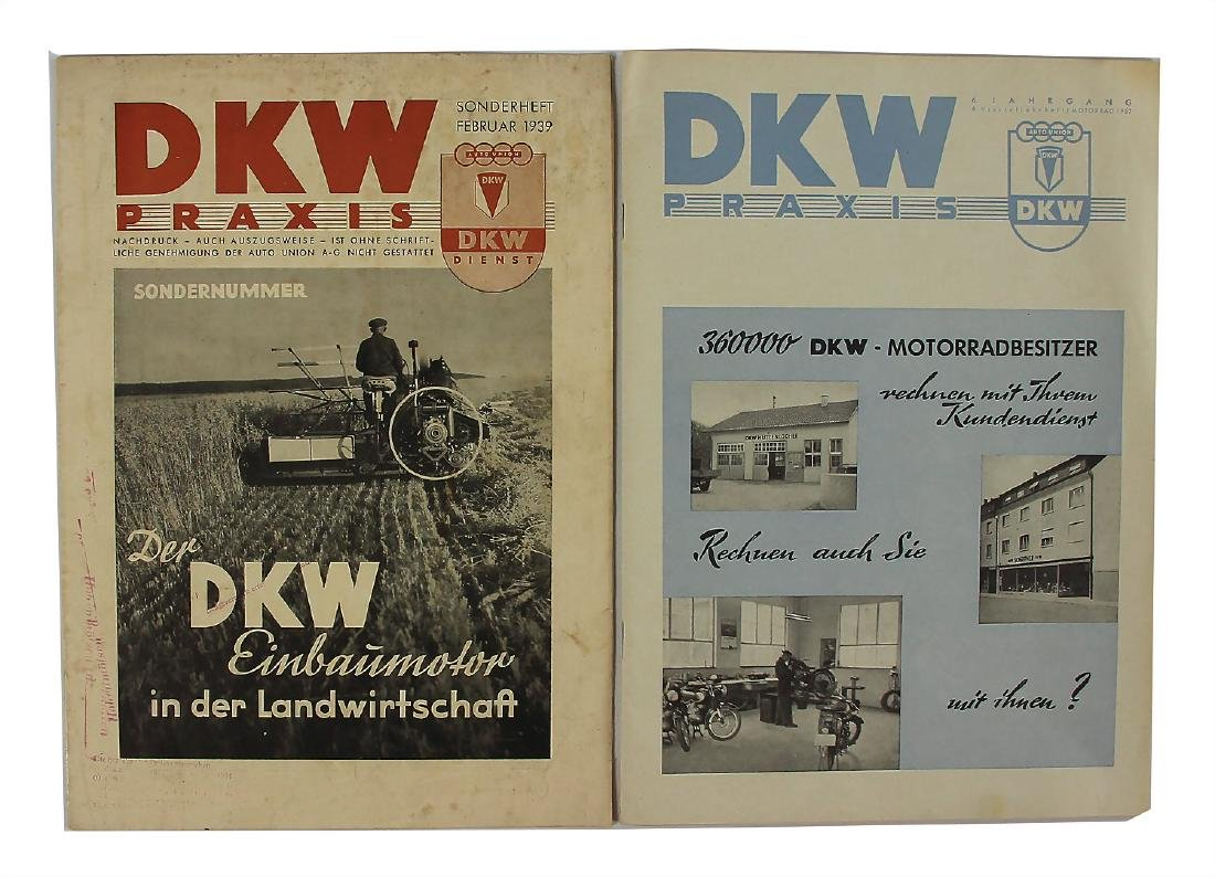 """DKW mixed lot with 2 editions issue """"DKW Praxis"""", No."""
