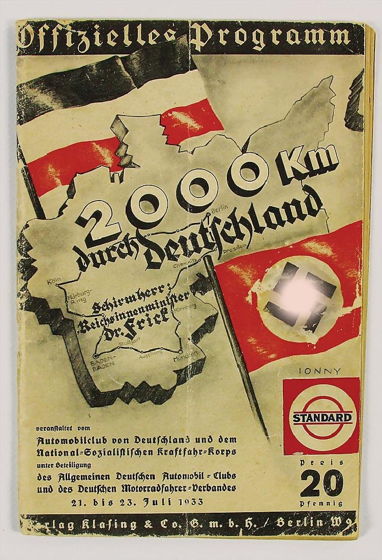 "official programme booklet ""2000 km durch Deutschland"""
