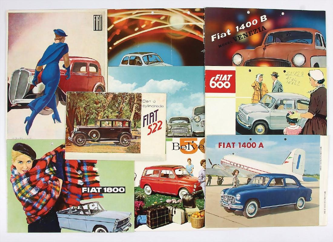 FIAT mixed lot with 9 pieces, among it sales