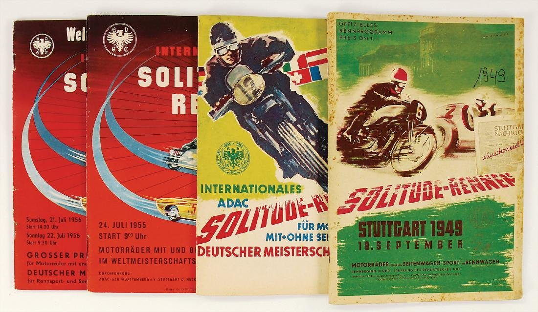 SOLITUDE-RACE mixed lot with 4 pieces, programmes,