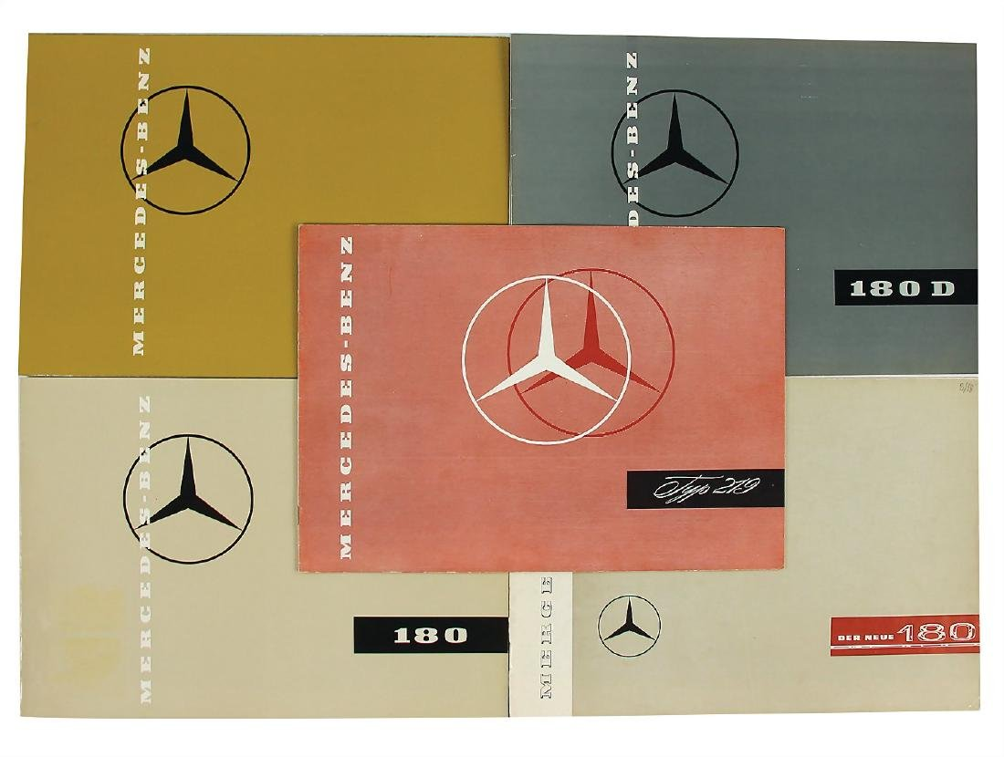 MERCEDES-BENZ mixed lot with 5 pieces, among it sales