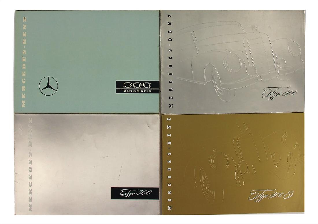 MERCEDES-BENZ mixed lot with 4 pieces, sales catalogs,