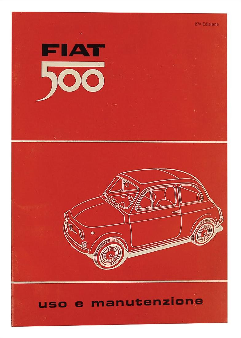 FIAT operating instruction for type Fiat 500, in