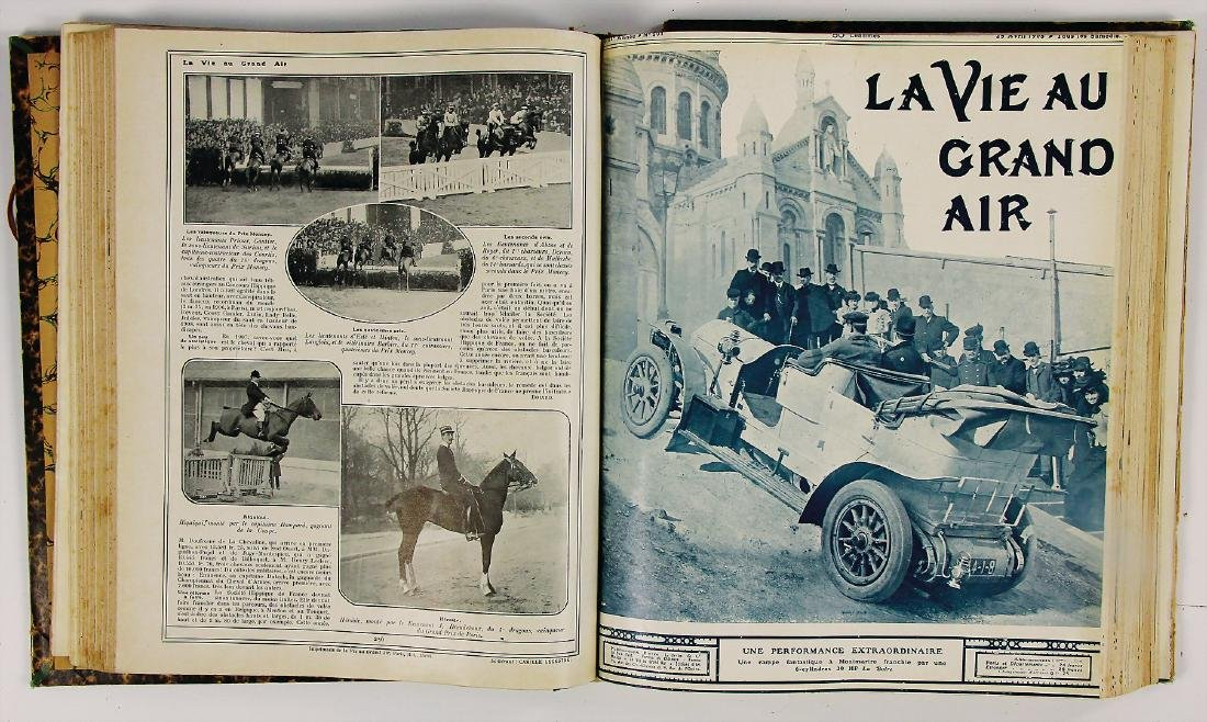 "magazine ""La Vie au Grand Air"", year 1908,"