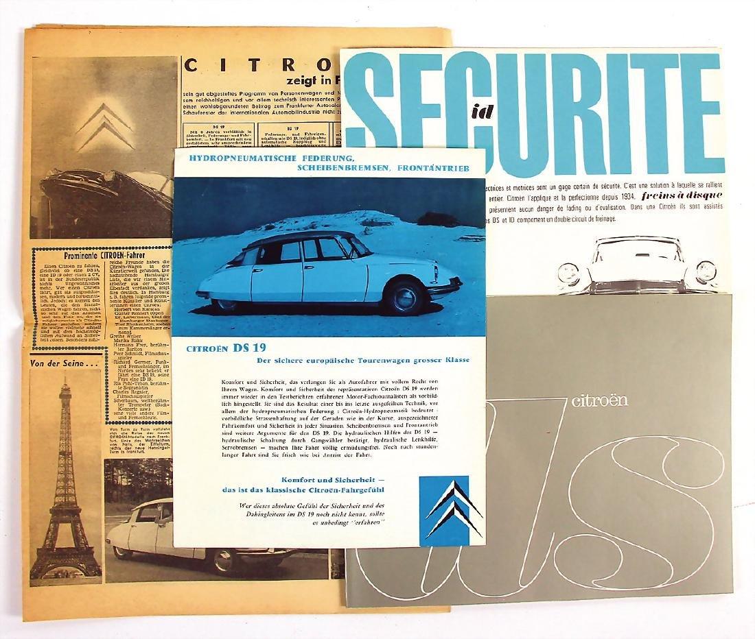 CITROEN mixed lot with 4 pieces, No. 1: sales brochure