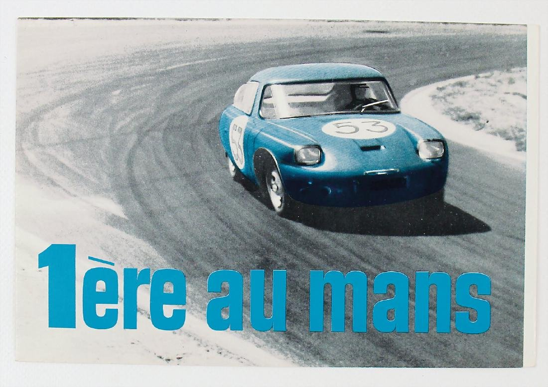 """PANHARD fold-out brochure """"1ere au Mans"""" from 1962, 6"""