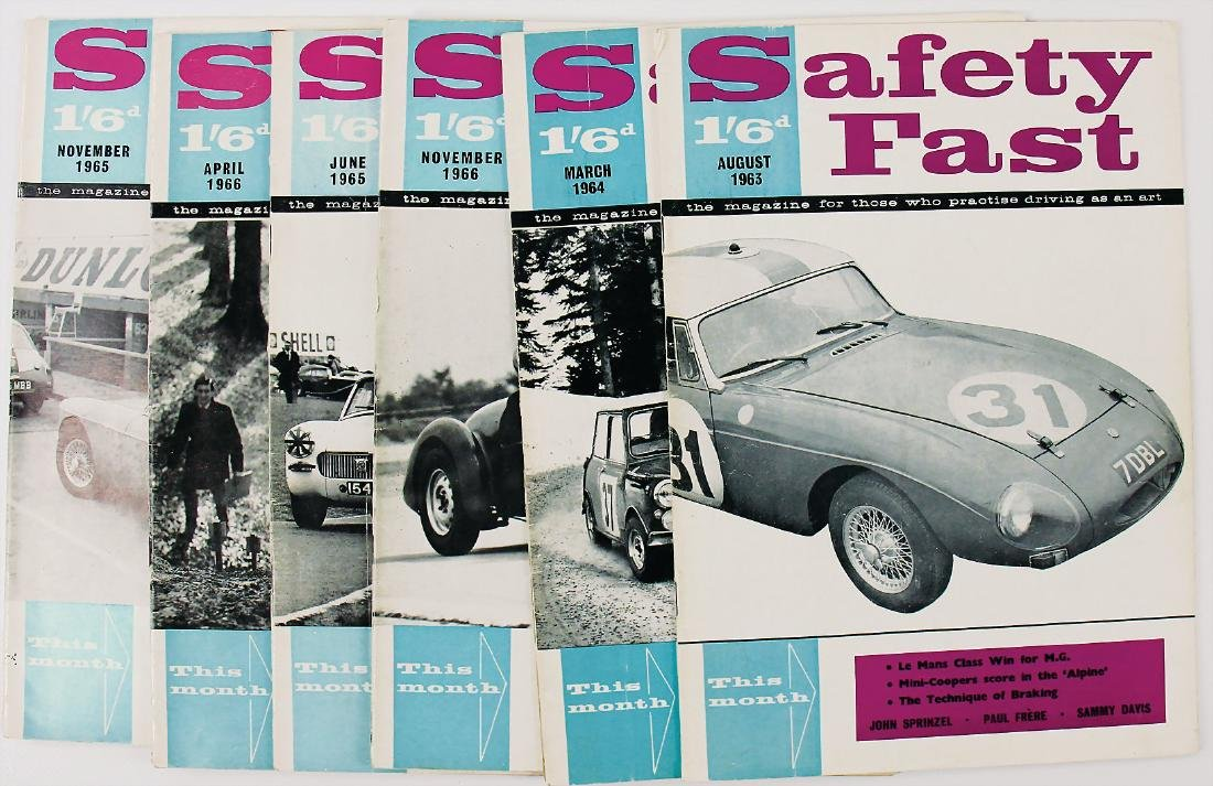 """magazine """"Safety Fast"""", the issues August 1963, March"""
