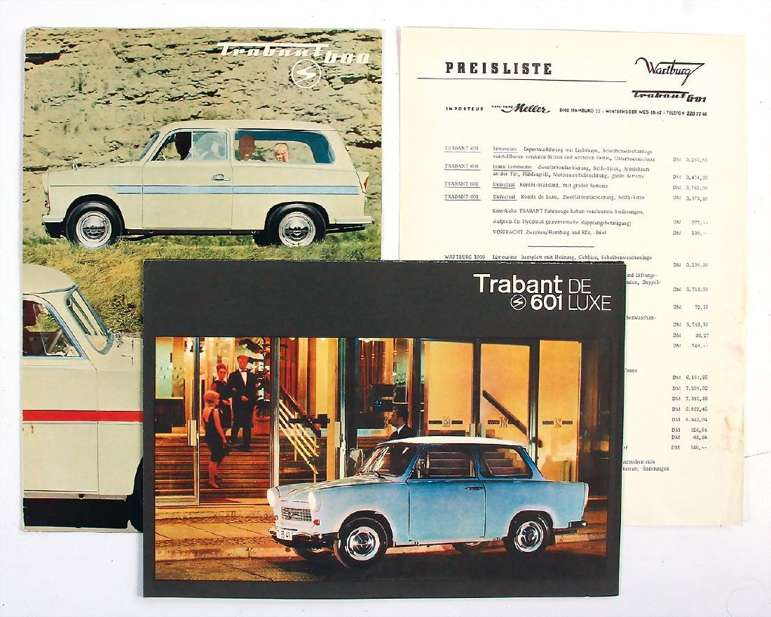 TRABANT mixed lot with 3 pieces, among it fold-out