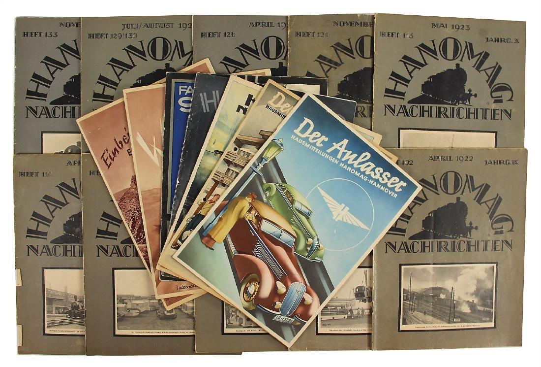"HANOMAG mixed lot of 16 journals ""Hanomag Nachrichten"","
