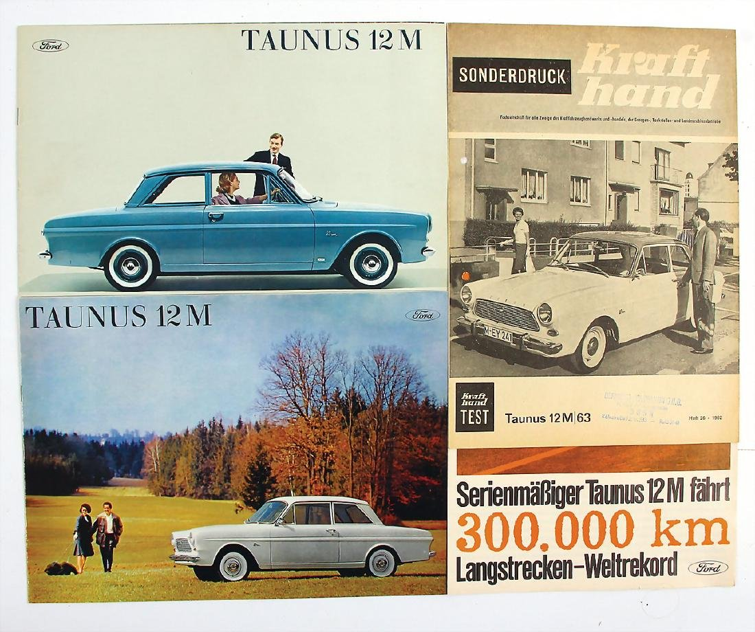 FORD mixed lot with 4 pieces, among it sales brochure