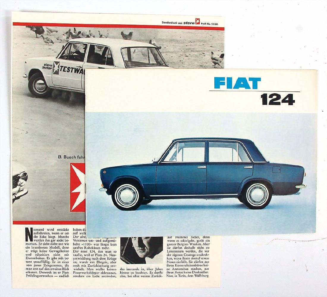 FIAT mixed lot with 2 pieces, among it sales brochure