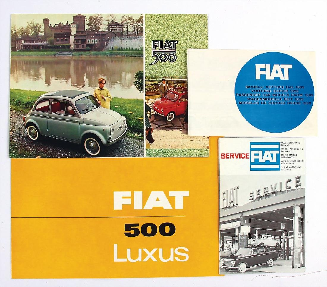 FIAT mixed lot with 4 pieces, among it fold-out