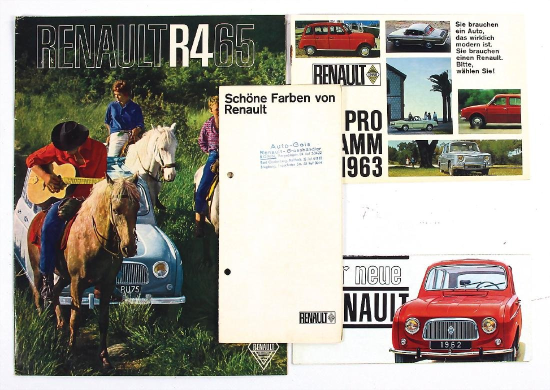 RENAULT mixed lot with 4 pieces, among it brochure