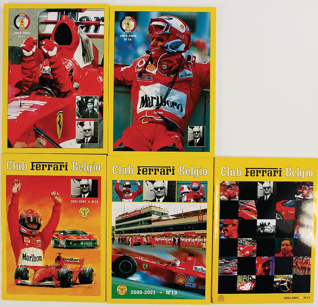 "FERRARI mixed lot of 5 issues magazine ""Club Ferrari"