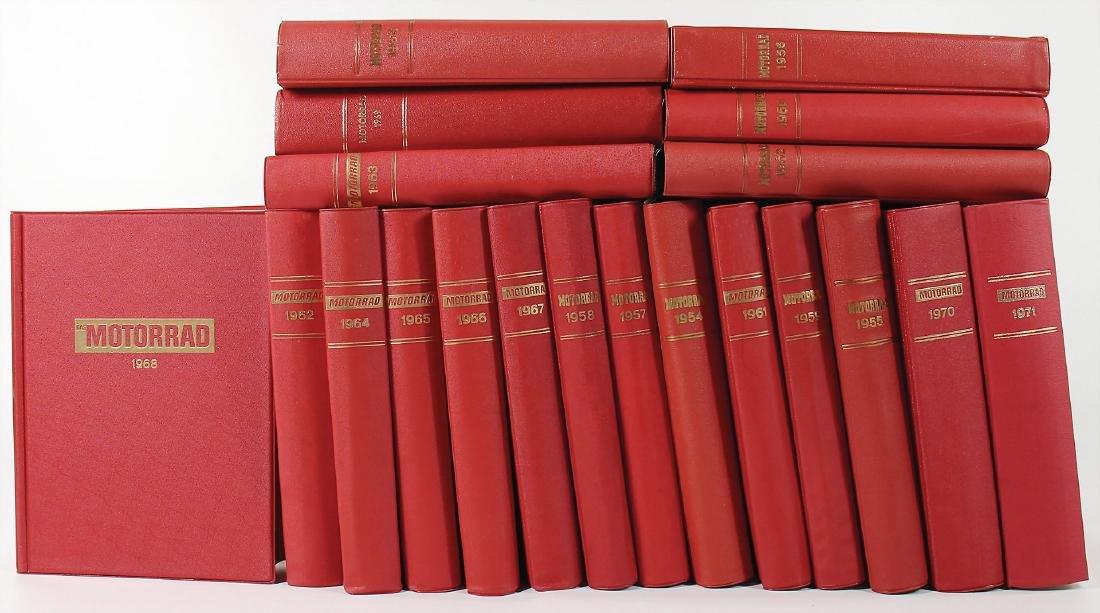 """magazine """"Das Motorrad"""", all in all 20 bound volumes"""