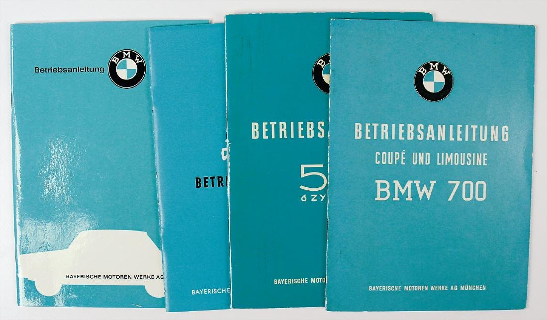 BMW mixed lot of 4 operating instructions, No. 1: