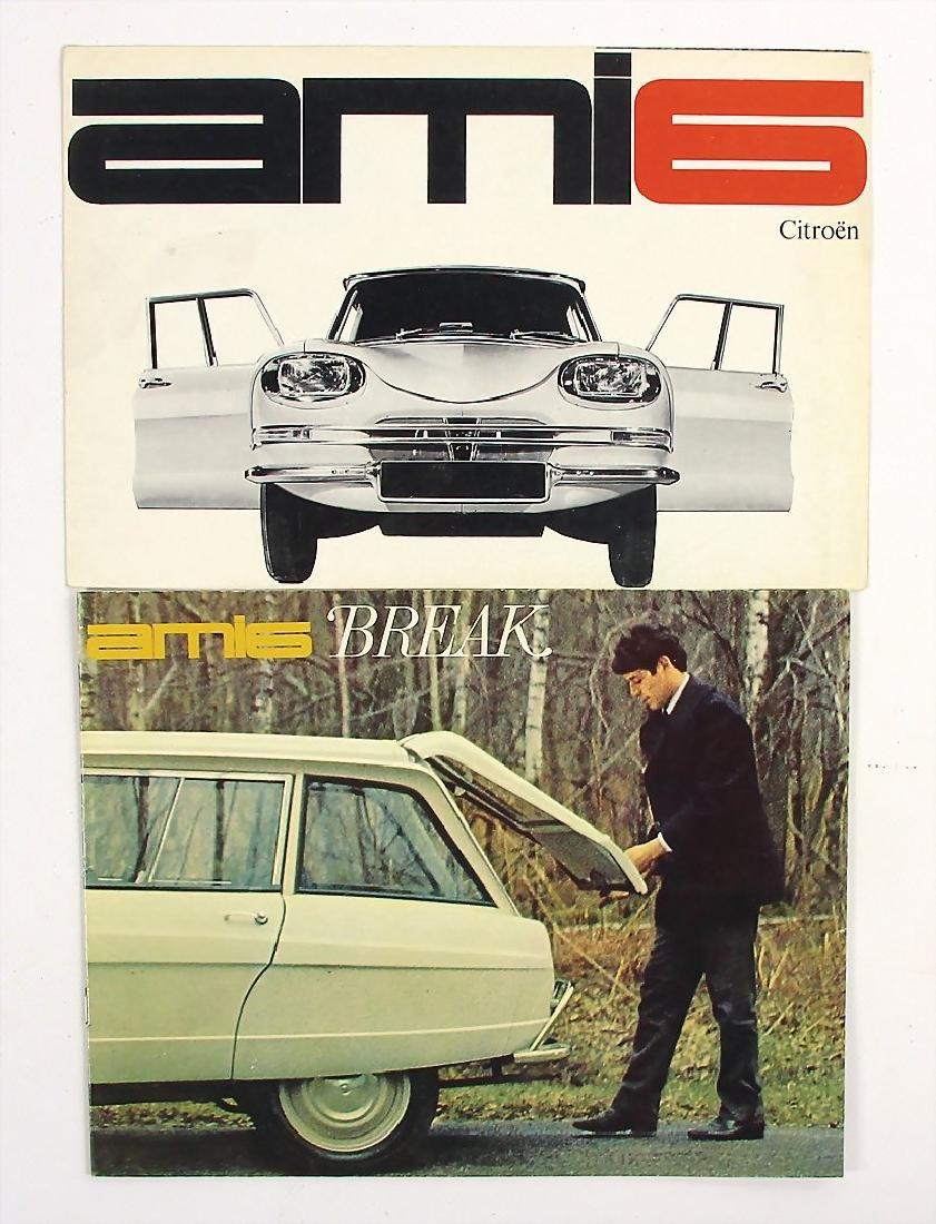 CITROEN mixed lot of 2 sales brochures, among it sales