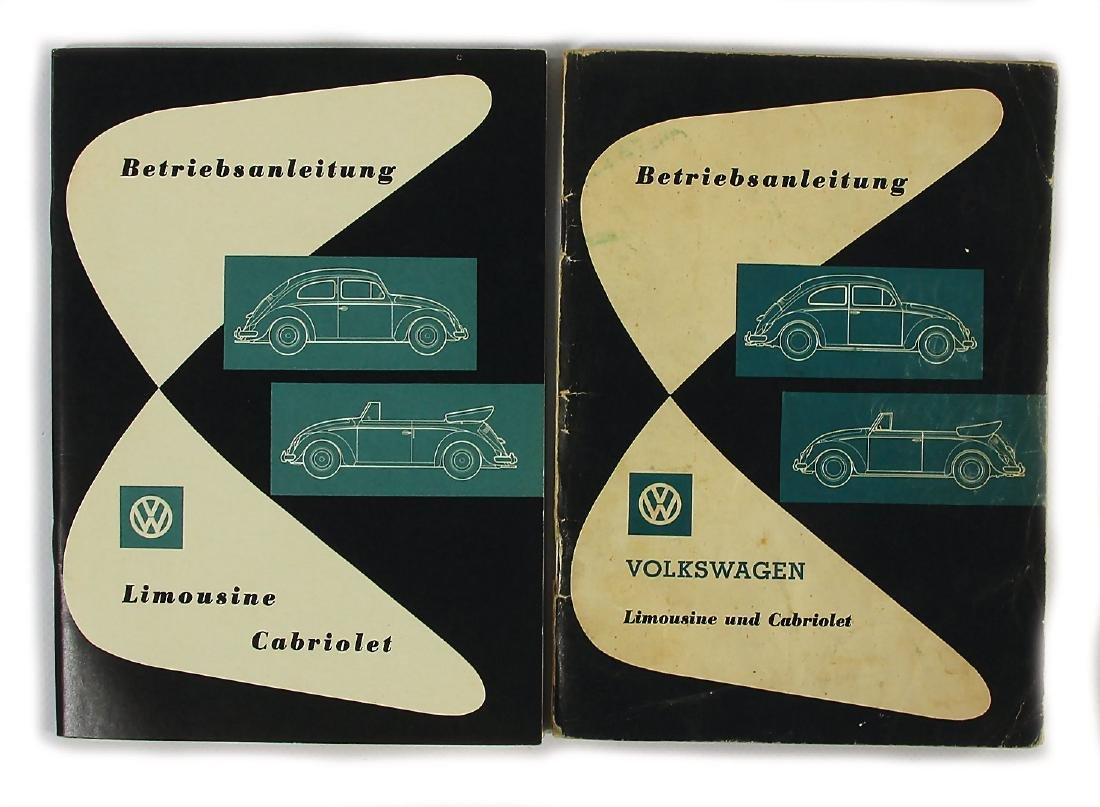 VOLKSWAGEN mixed lot of 2x operating instruction VW