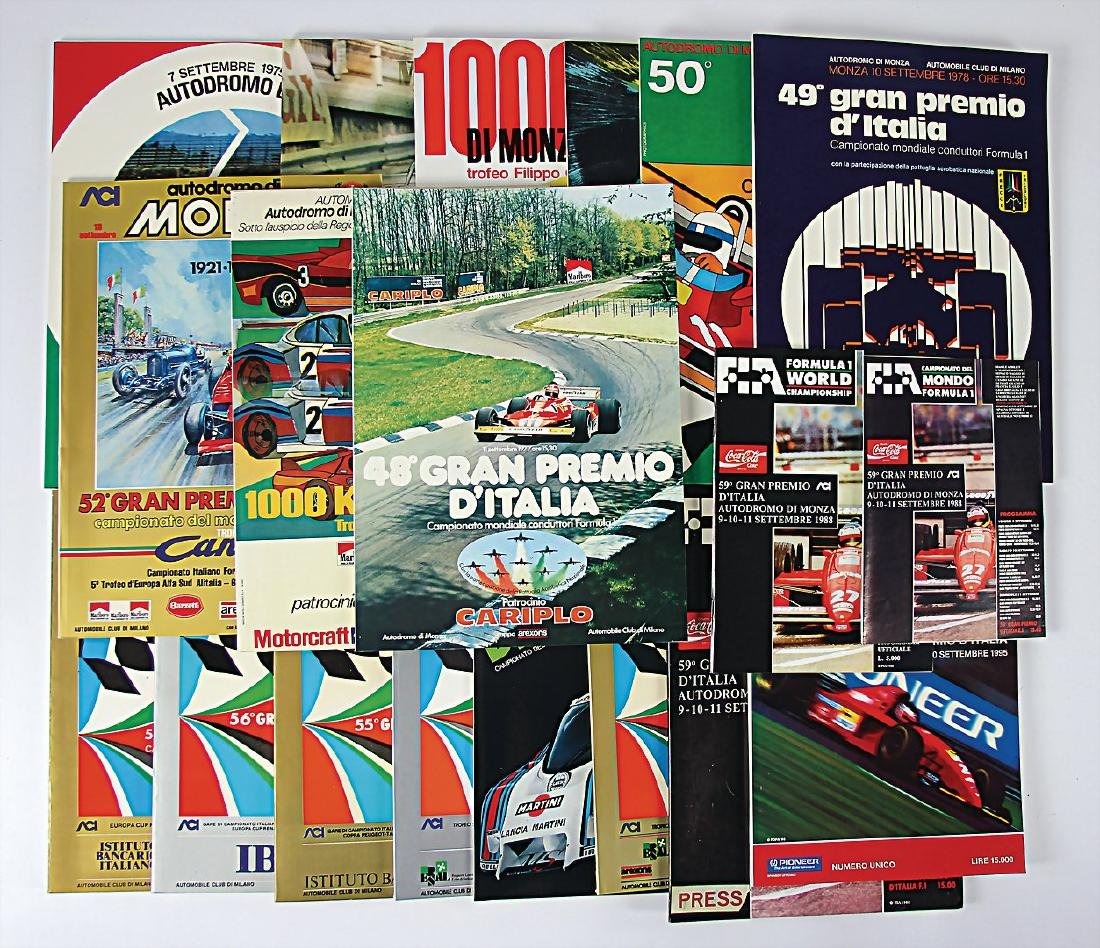 "mixed lot with 17 programmes ""Gran Premio di Monza"","