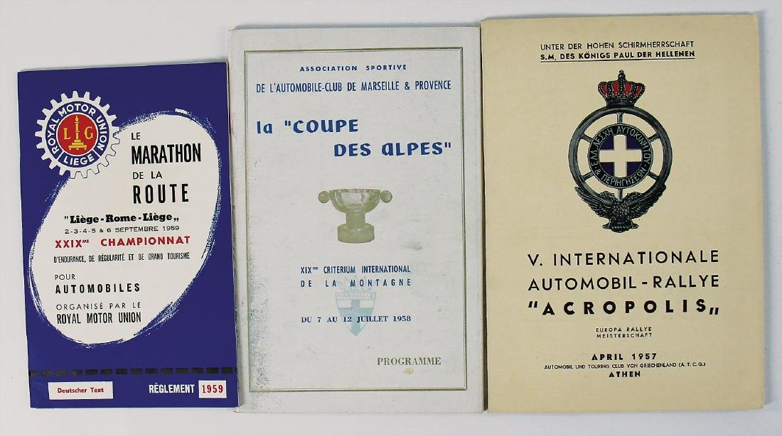 "mixed lot of 3 pieces, No. 1: regulations ""Marathon de"