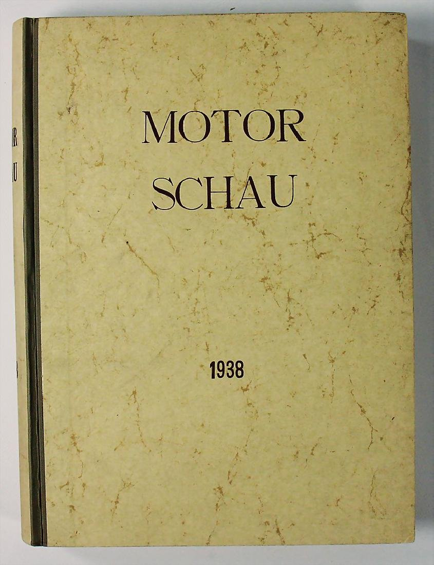 "magazine ""Motor Schau"", year 1938, bound, without"