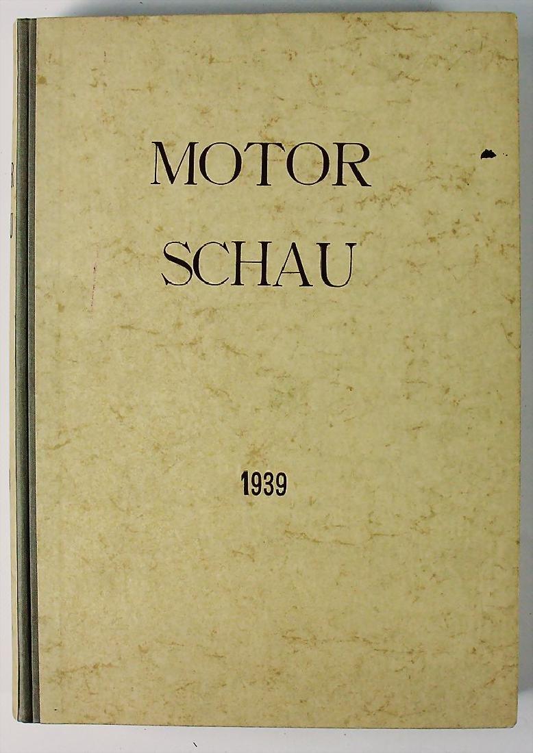 "magazine ""Motor Schau"", year 1939, bound, with covers"