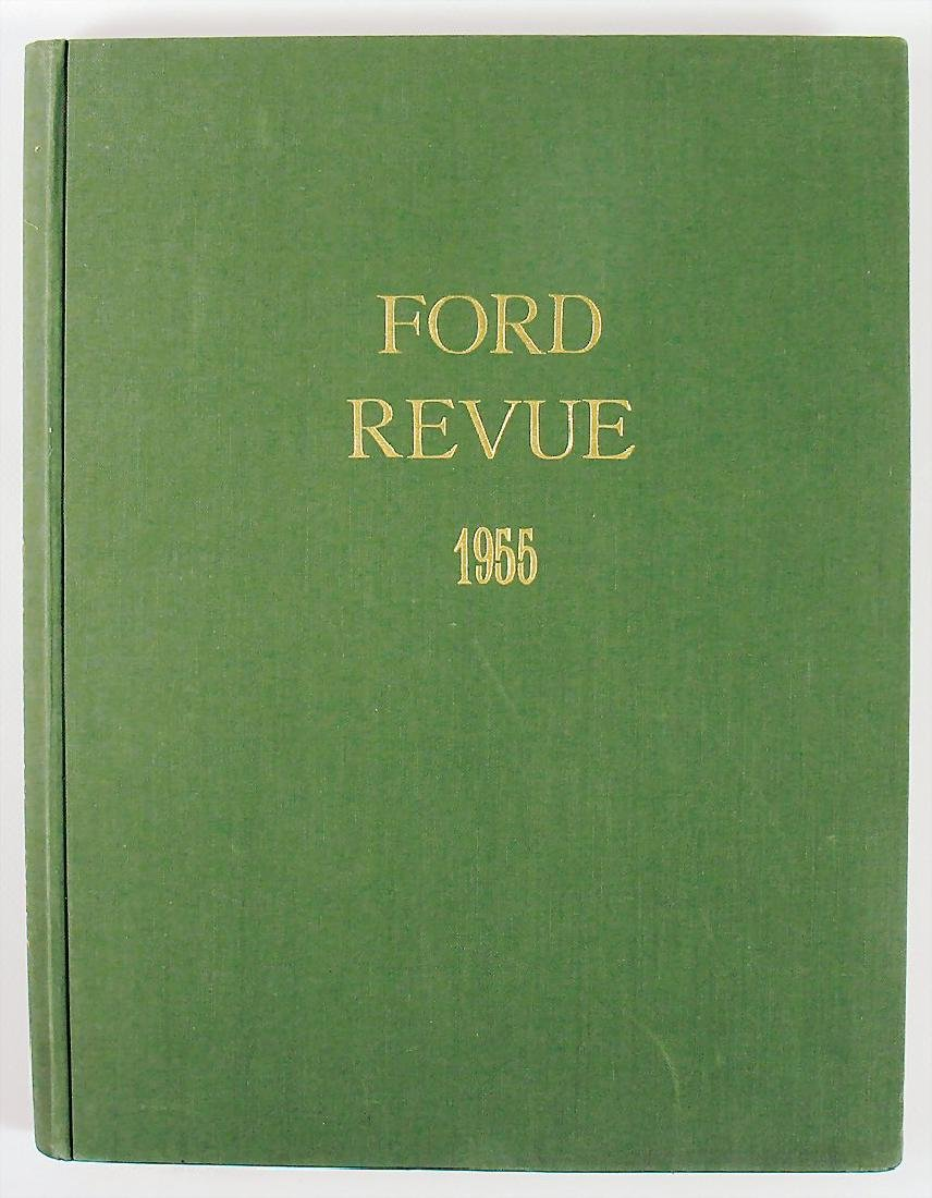 "magazine ""Ford Revue"", year 1955, bound, with covers"