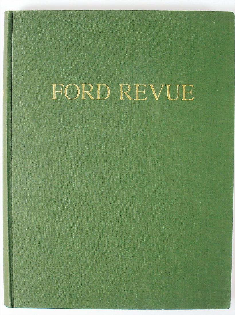 "magazine ""Ford Revue"", year 1956, bound, with covers"