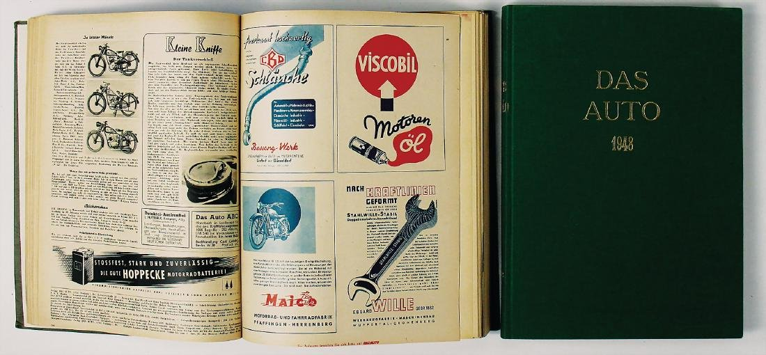 "magazine ""Das Auto"", year 1948, bound in 2 volumes with"