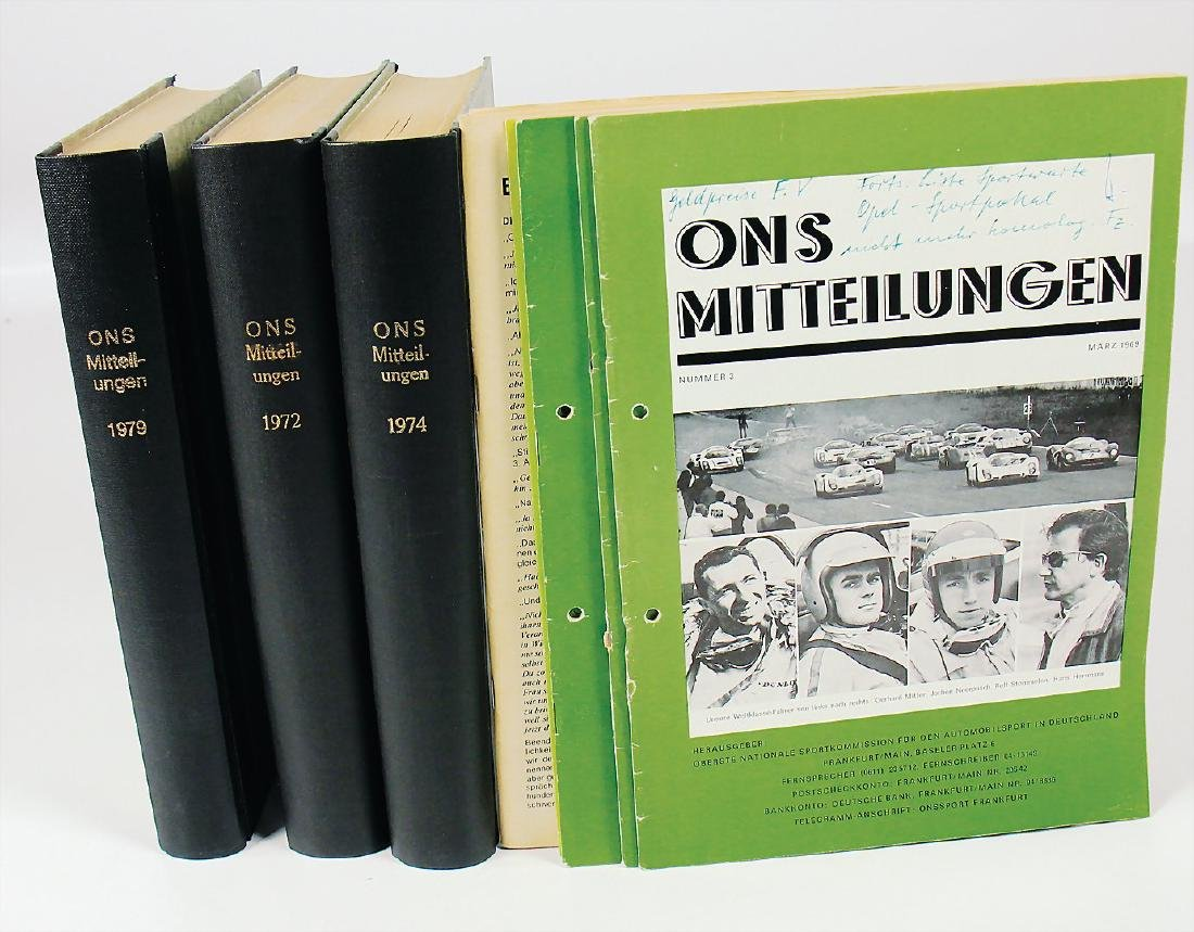 "magazine ""ONS Mitteilungen"", mixed lot, among it single"