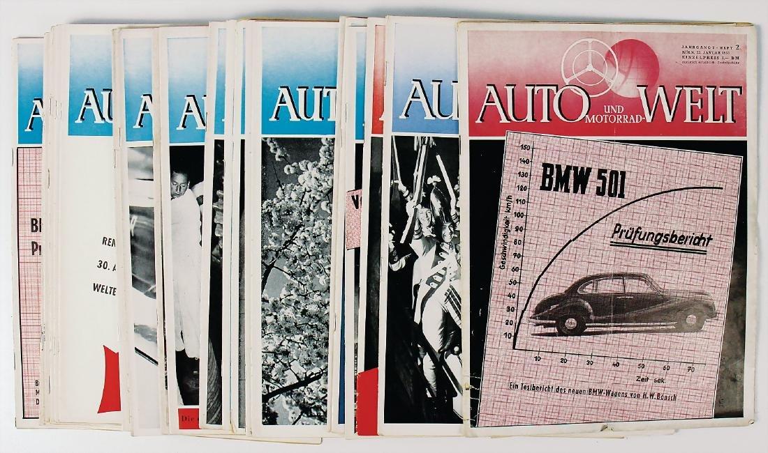 """magazine """"Auto und Motorrad-Welt"""", year 1953, edition"""