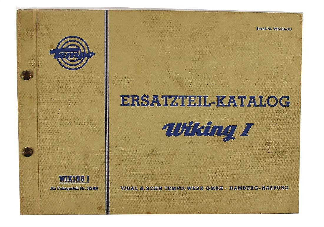 TEMPO replacement parts catalog for type Wiking 1 from