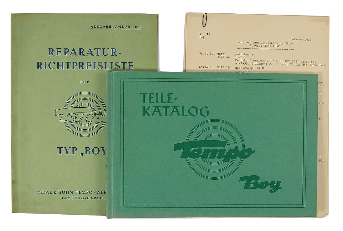 TEMPO mixed lot with 2 pieces, among it No. 1: