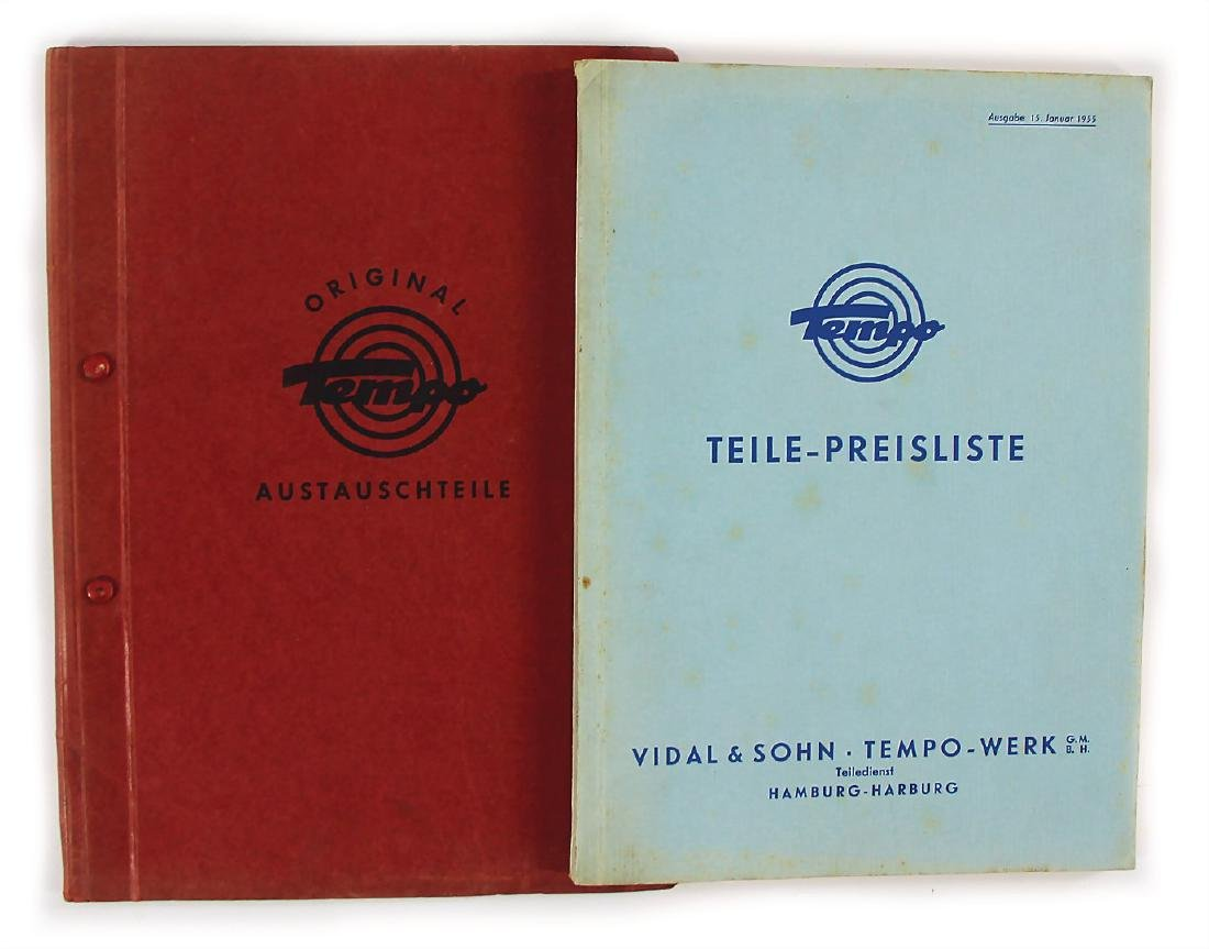 TEMPO mixed lot with 2 pieces, among it No. 1: catalog