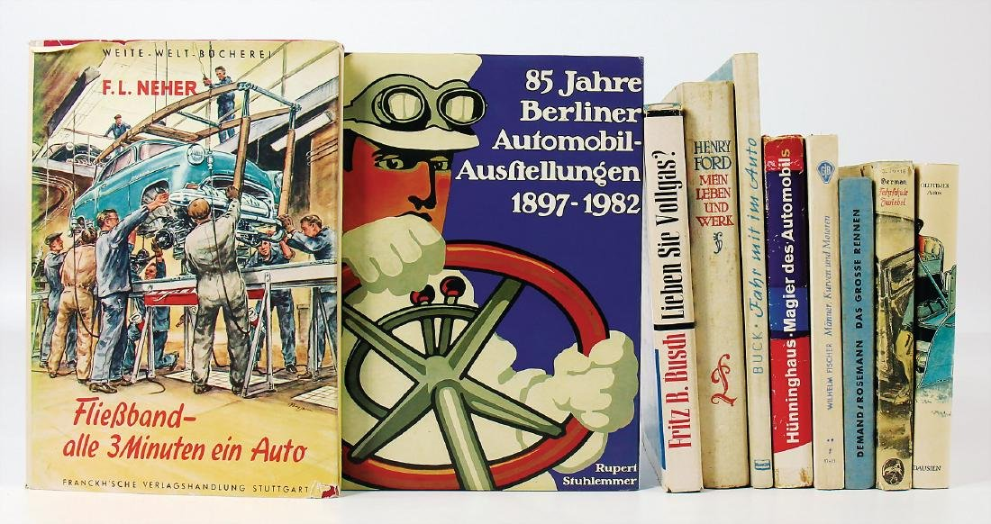 """mixed lot with 10 pieces, books, among it """"Fließband"""
