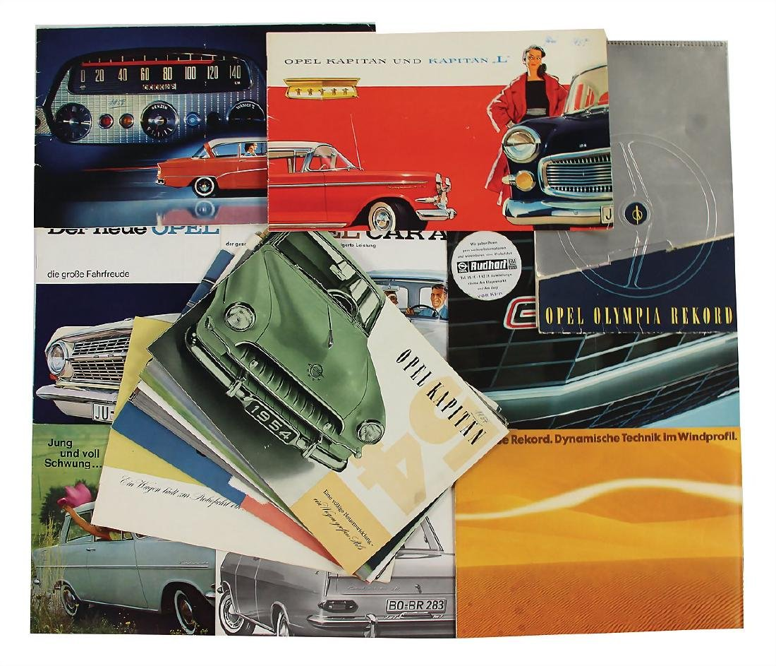 OPEL mixed lot with 20 pieces, among it sales brochures