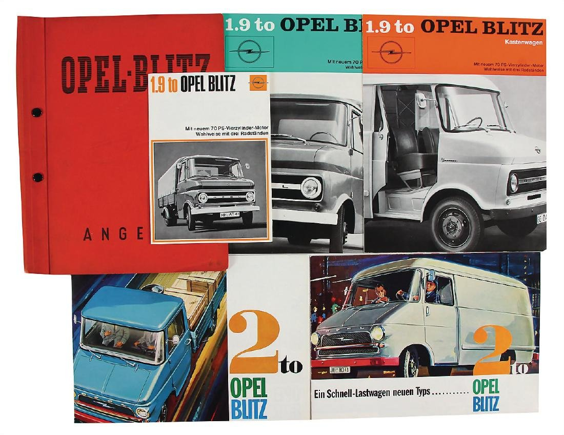 OPEL mixed lot with 6 pieces, among it sales folder