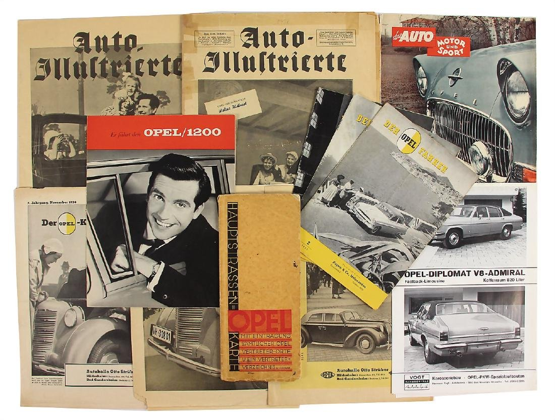 OPEL mixed lot with 14 pieces, among it 2 issues of the