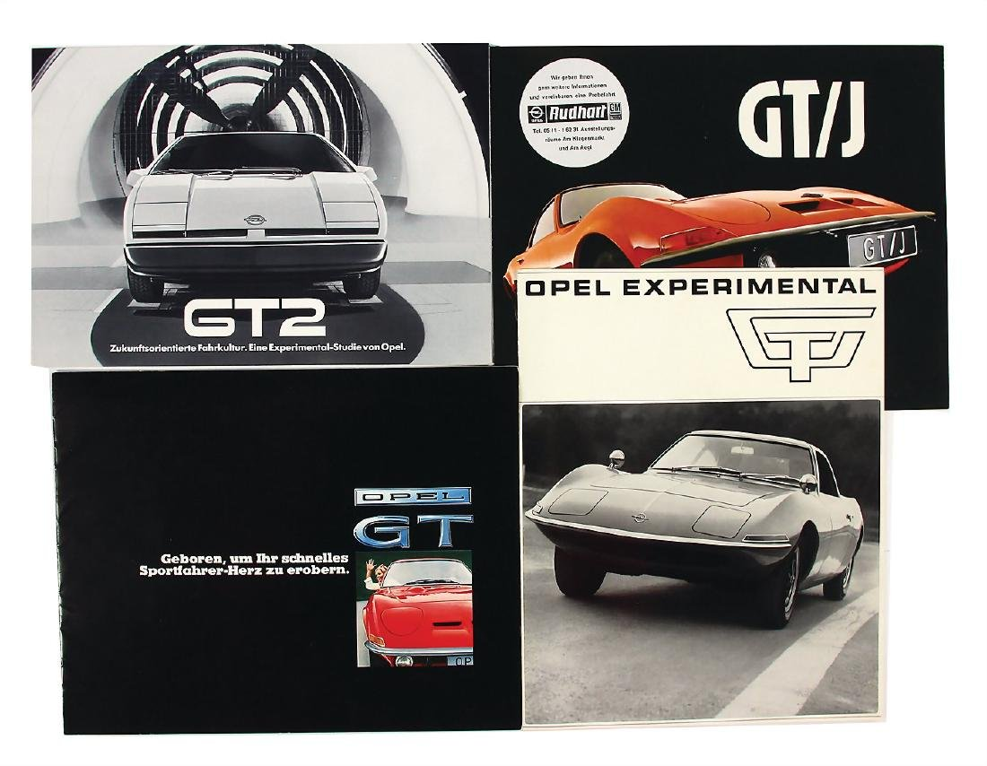 OPEL mixed lot with 4 pieces, sales brochures, among it