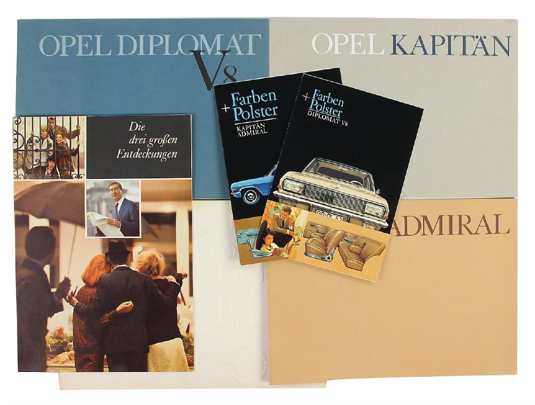 "OPEL sales folder ""Die großen Drei von Opel"" in it the"