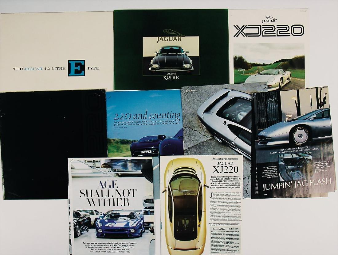JAGUAR mixed lot with 9 pieces, No. 1: sales brochure