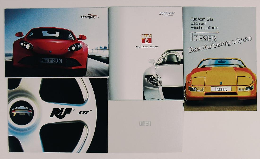 GERMAN/SPORTCARS mixed lot with 5 pieces, among it