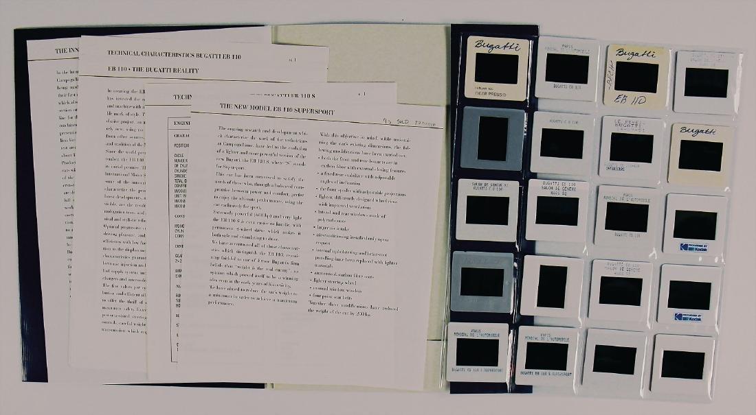 BUGATTI sales folder Bugatti EB 110/110 S, 3 original
