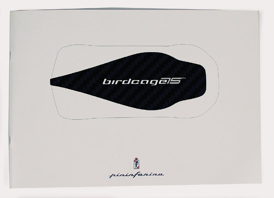 PININFARINA sales catalog Birdcage/75, 34 pages, with